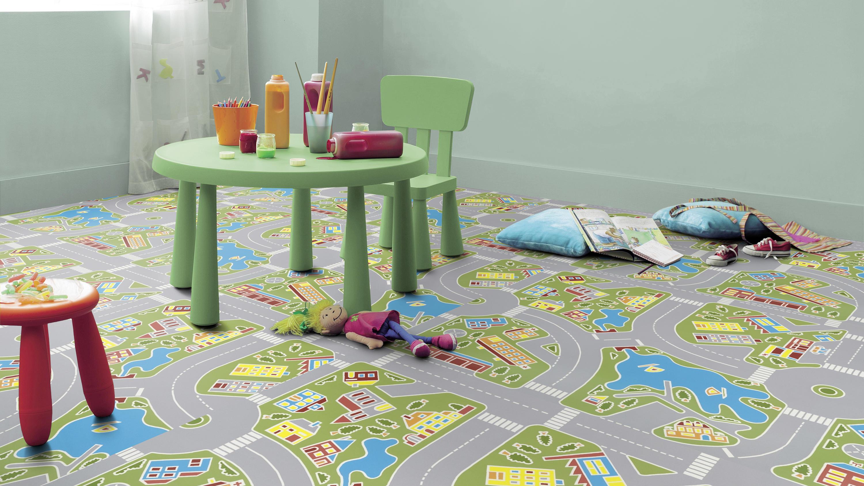 vinyle en rouleau exclusive 300 play tarkett. Black Bedroom Furniture Sets. Home Design Ideas