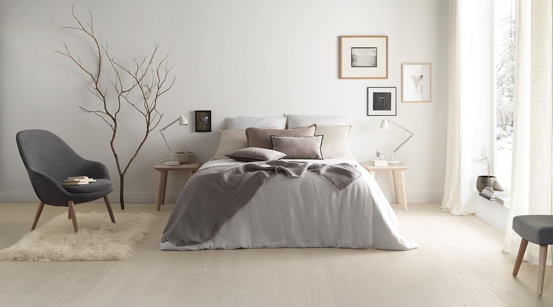 Ljusa svenska parkettgolv i ditt sovrum?