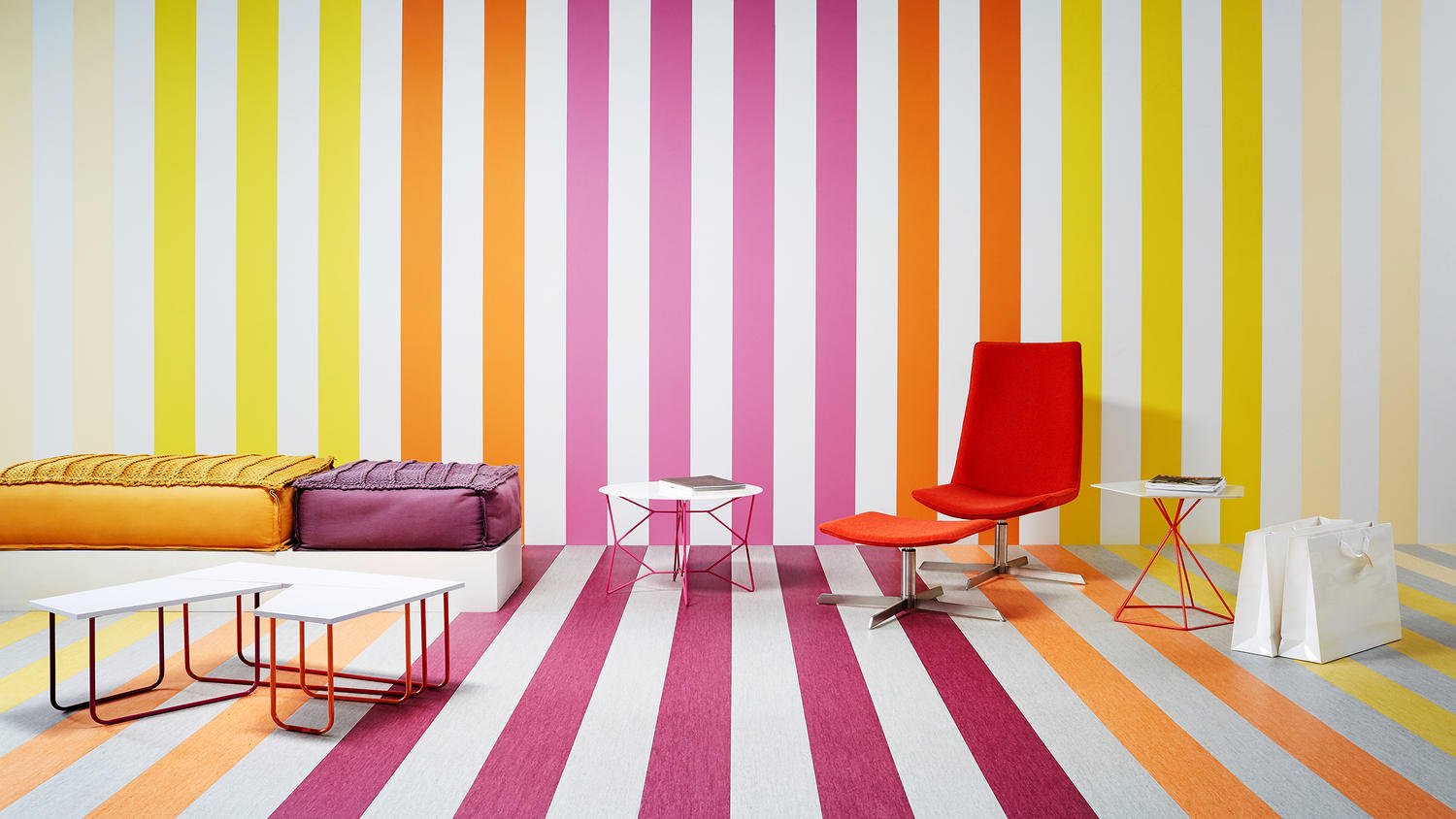 iQ Optima Colourfull Colour stripes living