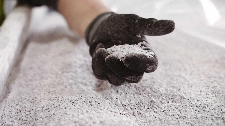 Granualter av golv som ska bli till nya