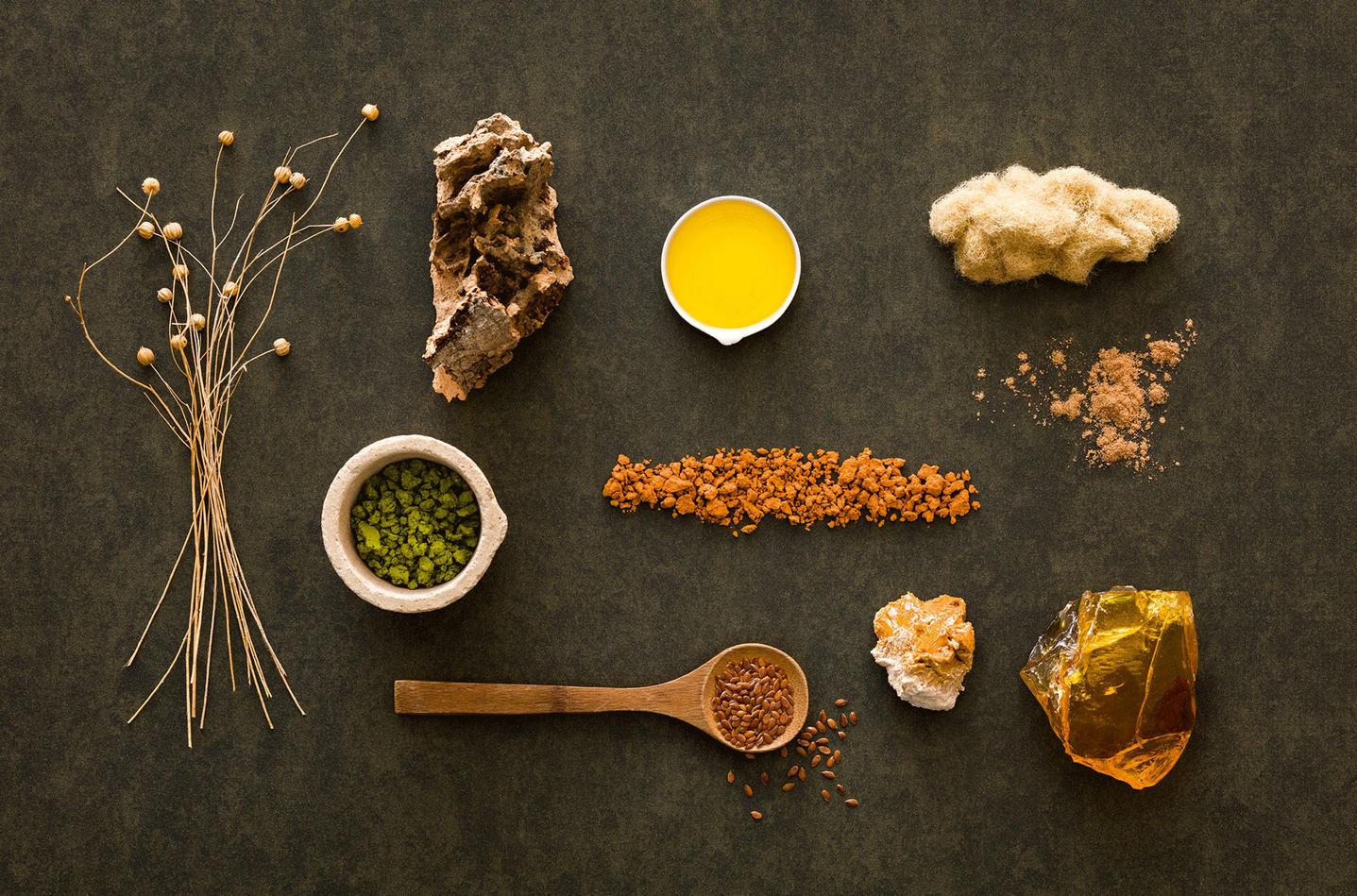 Naturliga ingredienser till våra linoleumgolv