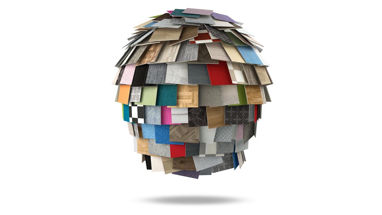 Bild på Tarkett, kotte med alla golvmaterial