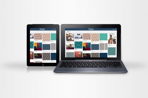 Tarkett bild på online configurator för iD Mixonomi