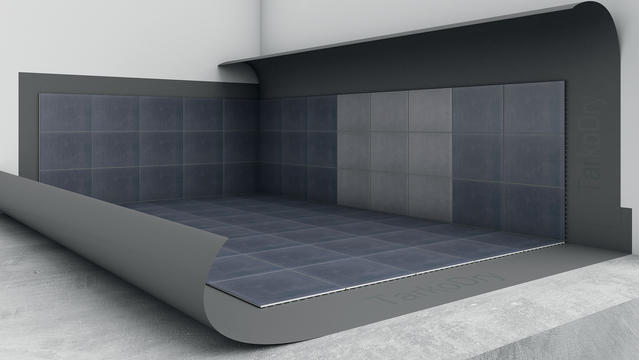 Tarkodry tätskiktsmatta - golv och vägg