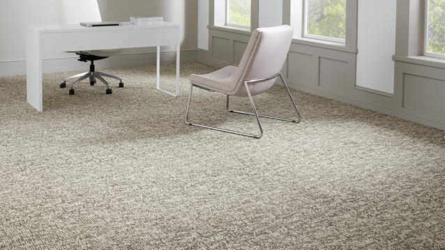 A full range of commercial carpet, from broadloom to woven and modular tiles to area rugs.
